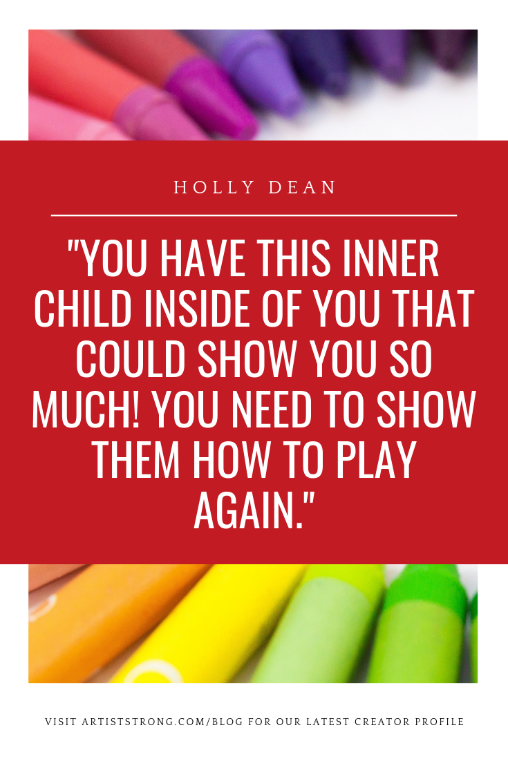 Holly Dean is an artist and art educator who believes EVERYONE (and I mean everyone) deserves to have play in their life. She helps people embrace their creativity and celebrate the joy, health, and better quality of life play brings to your life. In this next How to Be an Artist Creator Profile, Holly and I talk about: (1) when she first realized this mission to encourage creative play (2) Her wonderful community called Artsy Life, and (3) a special call to action she has for you to incorporate more play! #mixedmediaart #Artiststrong #artistinterview #creativeblock