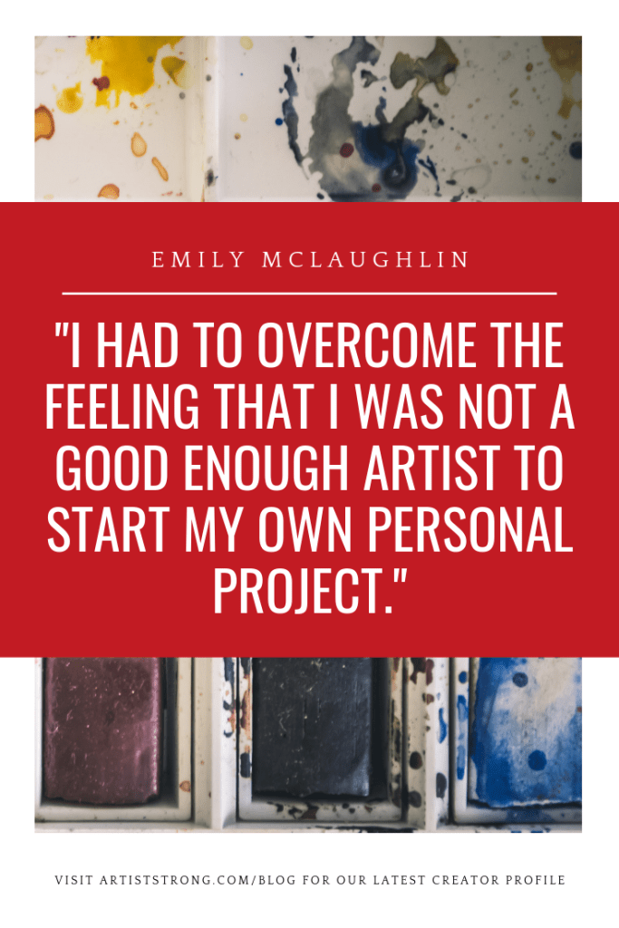 Do you like foxes? Mythology? Fantasy? Emily McLaughlin creates BEAUTIFUL illustrations and is currently working on an illustrated book that's truly eye-catching. #artistquote #creativityquotes #artiststrong #artistinterview