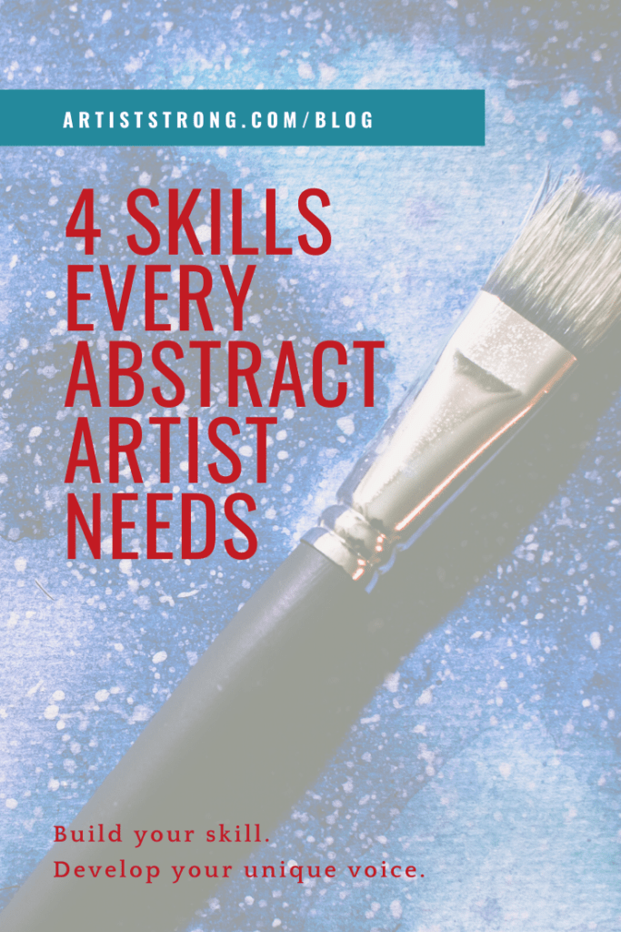 How can artists who enjoy and focus on abstraction build their skill? #mixedmediaart #mixedmediaartist #abstractart #abstractartisttips #abstractartlessons #artiststrong