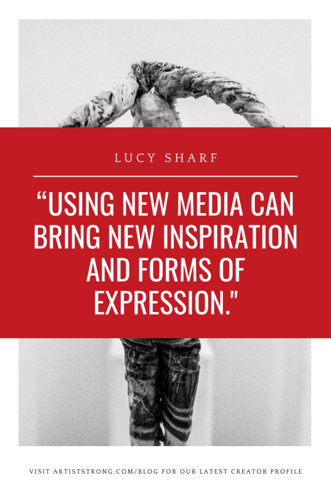 Today I'm pleased to introduce the work of Lucy Sharf. We talk about -𝗲𝘅𝗽𝗹𝗼𝗿𝗶𝗻𝗴 𝗯𝗼𝘁𝗵 𝘀𝗰𝘂𝗹𝗽𝘁𝘂𝗿𝗲 𝗮𝗻𝗱 𝗽𝗮𝗶𝗻𝘁𝗶𝗻𝗴, -𝗵𝗼𝘄 𝗼𝘂𝗿 𝗲𝗺𝗼𝘁𝗶𝗼𝗻𝘀 𝗮𝗻𝗱 𝗽𝘀𝘆𝗰𝗵𝗼𝗹𝗼𝗴𝘆 𝗰𝗮𝗻 𝗱𝗿𝗶𝘃𝗲 𝗼𝘂𝗿 𝗮𝗿𝘁, 𝗮𝗻𝗱 -𝘁𝗵𝗲 𝘃𝗮𝗹𝘂𝗲 𝗼𝗳 𝗽𝗿𝗮𝗰𝘁𝗶𝗰𝗲. Personally, I'm really drawn to her sculptures that talk about motherhood, intimacy, and relationships. There is a wonderful vulnerability in them that speaks to my heart and my newfound identity of mother.