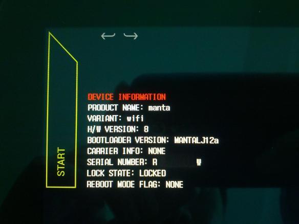 Nexus 10 Bootloader