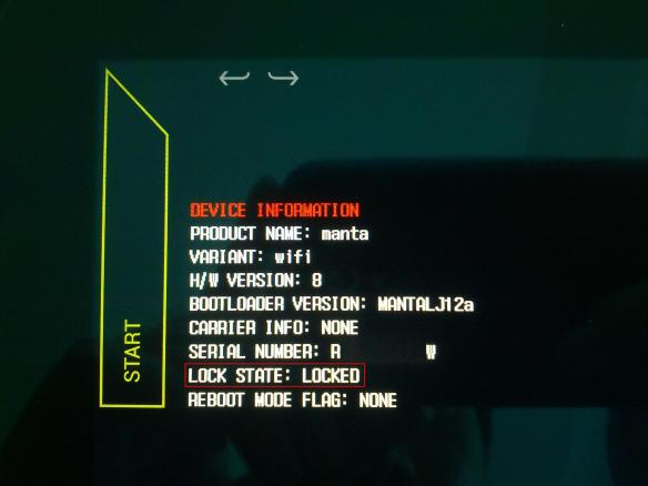 Nexus 10 Bootloader Locked