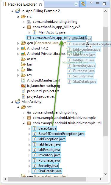 ทำการลาก Utility Class ทั้ง 9 ไฟล์ มาใช้ใน Project เรา