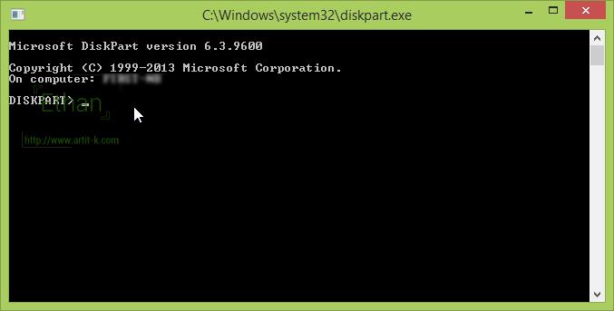 หน้าตาโปรแกรม diskpart คล้าย ๆ dos นั่นเอง