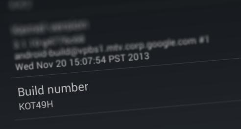 [Android] ความลับ ที่ไม่ลับ ของเลข Build number