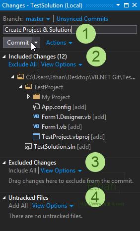 Changes บน Team Explorer windows
