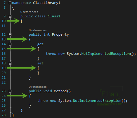 การขึ้นบรรทัดใหม่บน C#