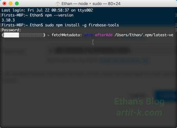 Install Firebase tools