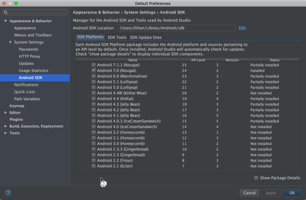 Android Studio 2.3