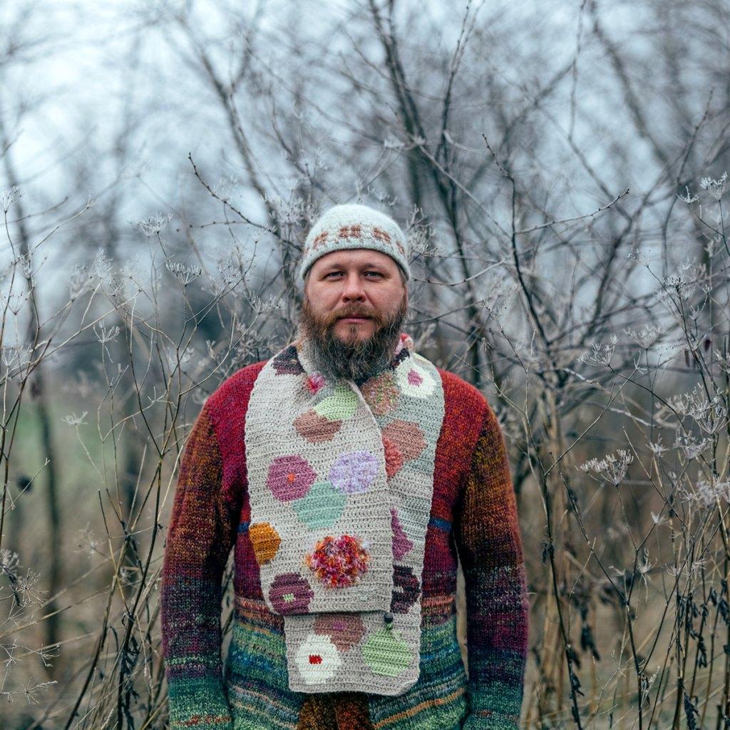 Tija Viksna Tapestry Crochet Jacquard Scarf