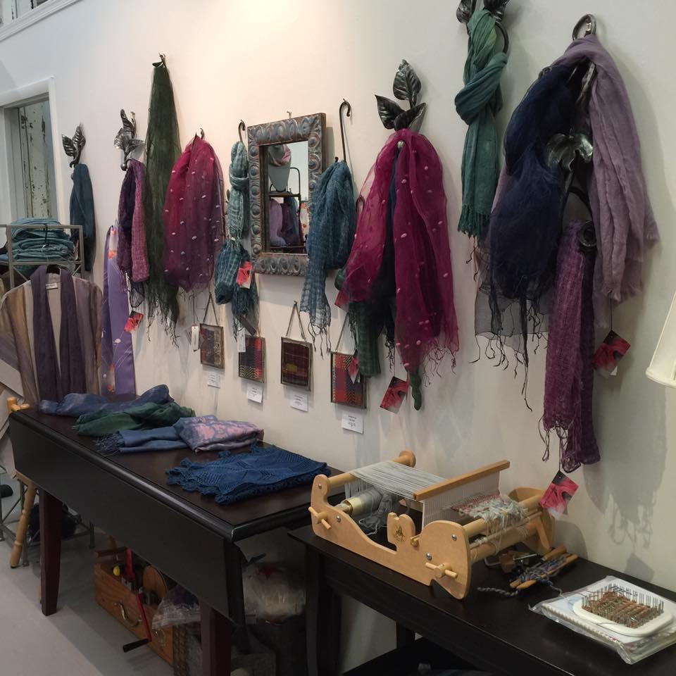 Jane Porter Fashion eco-dyed scarves