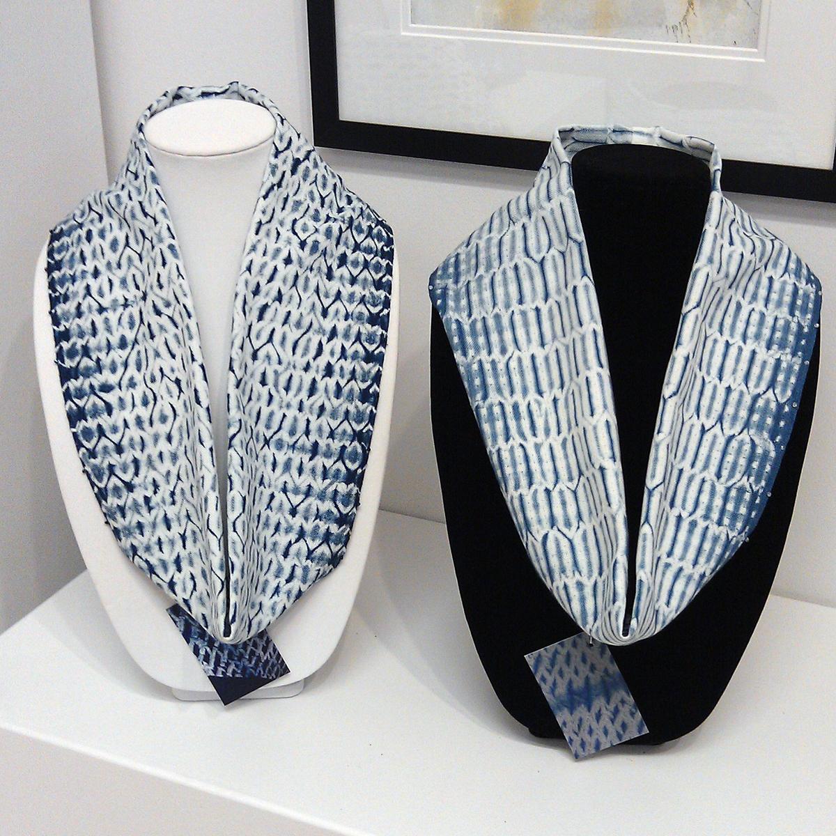Shuttle Works Studio woven-shibori-circle-scarves