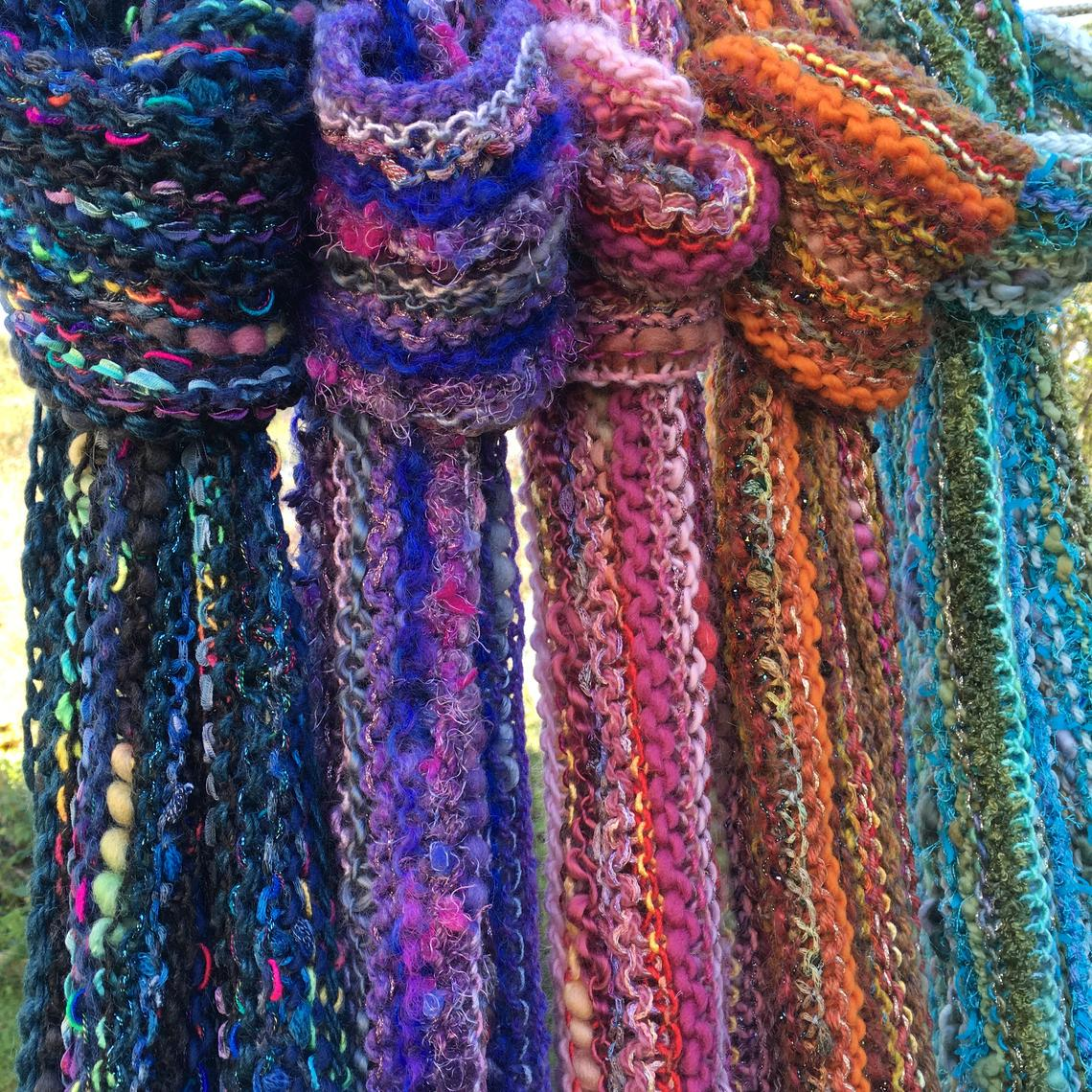 Yarndance Mixed Fiber Knitted Scarves