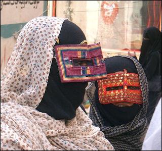 Burqa in Bamdar Abbas (south_Iran), Muslim veil