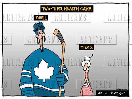 Image result for two tier health cartoon