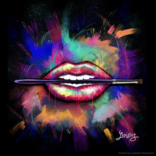 Make Graphic Lips Illustration Art