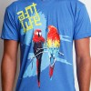 Birds of Paradise Tee Detail Vintage Lake Blue