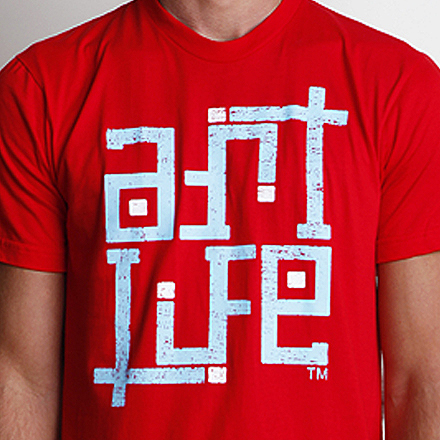 Self-Titled Tee Detail Red