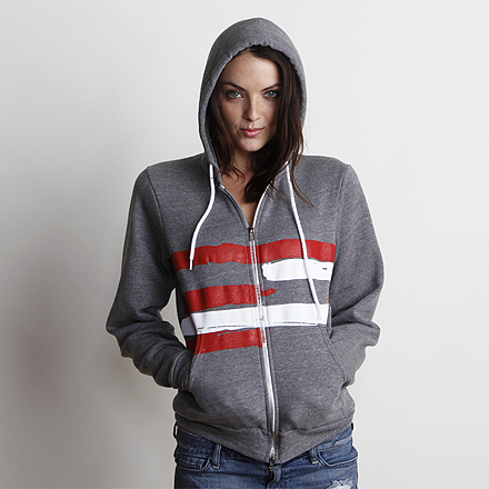 Freedom Womens Hoodie Dark Heather