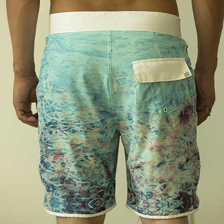 Madalena Shorts (Back) - SeaFoam