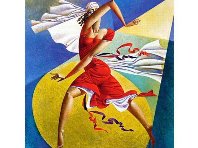 georgy-kurasov-Russian-contemporary-colorful-emotive-cubist-painter
