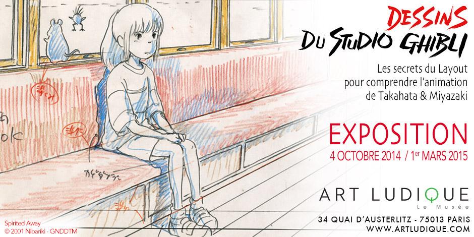Exposition Dessins du Studio Ghibli - Musée Art Ludique - Affiche