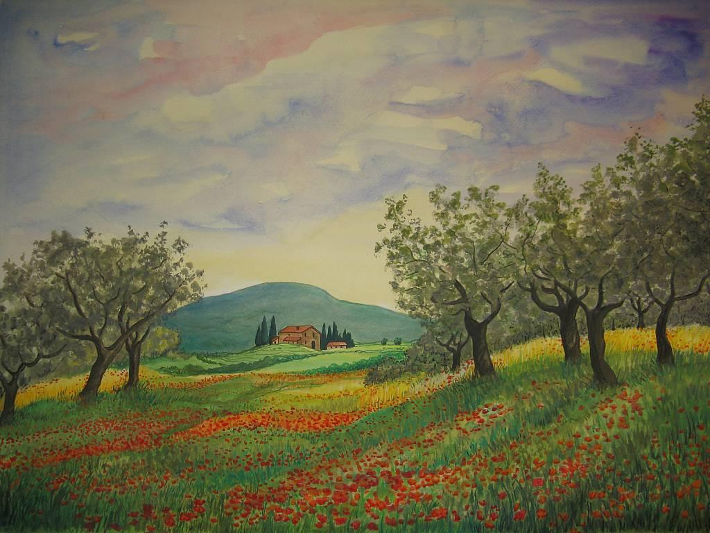 campagna toscana  vendita quadro pittura  ArtlyNow