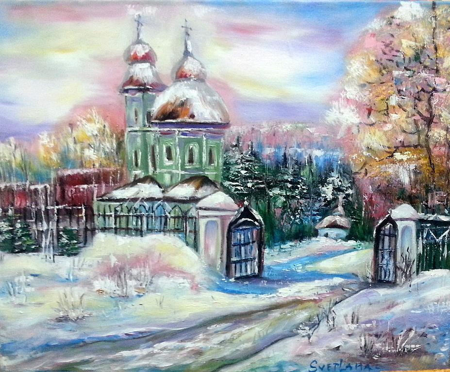 Paesaggio invernale  vendita quadro pittura  ArtlyNow