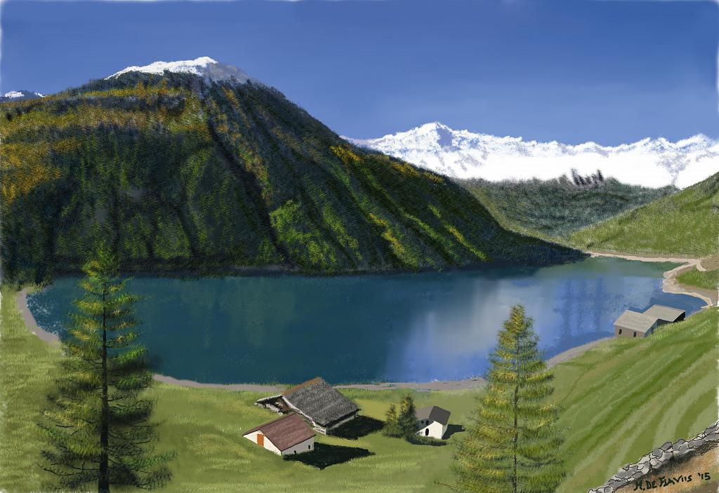 Paesaggio montano  vendita quadro pittura  ArtlyNow