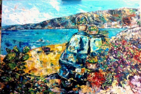 Vacanze in Calabria vendita quadro pittura ArtlyNow