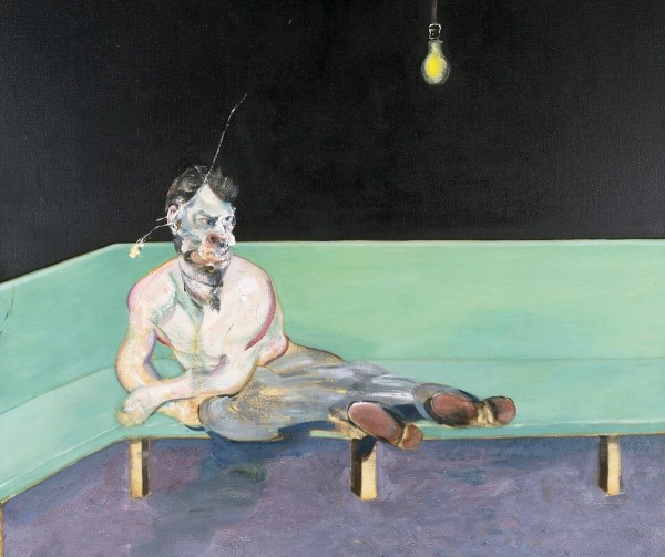 Rare Portrait Of Lucian Freud Francis Bacon Exhibited