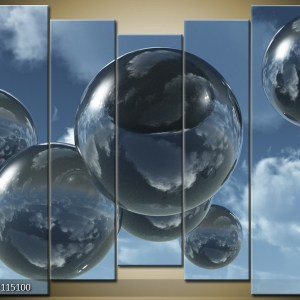 Abstract canvasschilderij 001490 – bollen