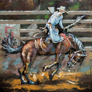 Metal art 3D – 613 – rodeo