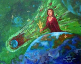 Virgo Constellation Painting by Erdal Bölükbaşı | Artmajeur