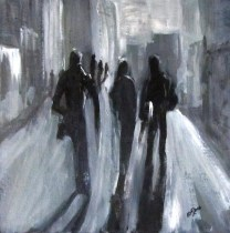 Time of Long Shadows Painting by Bobbie O'Toole | Artmajeur