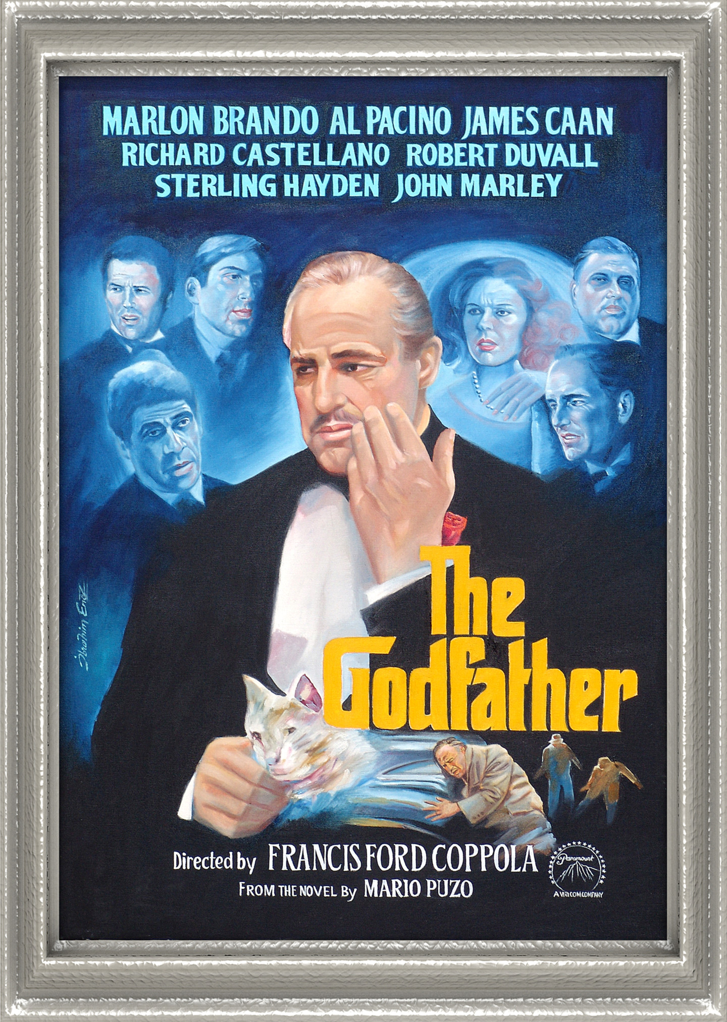 the godfather movie poster painting by