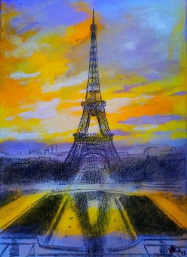 Crpuscule Sur La Tour Eiffel Marc Parmentier