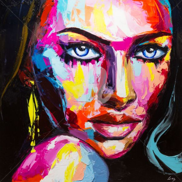 Abstract Art Paintings Black Women