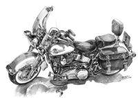 Magnfico Dibujos De Harley Davidson Composicin