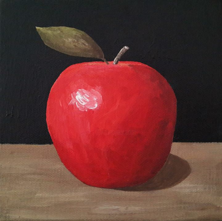 little red apple painting
