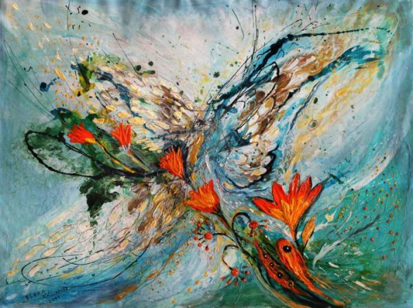 Abstract Angel Wing Paintings