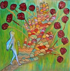 "Trust your path"" healing Art painting Peinture par Gioia Albano 