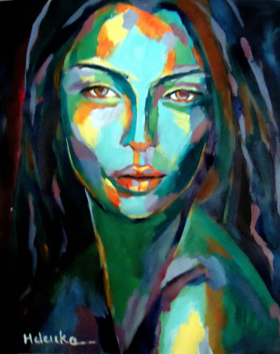 Abstract Woman Portrait Painting
