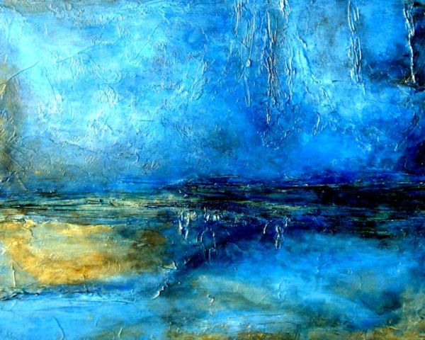Blue Contemporary Abstract Art Paintings