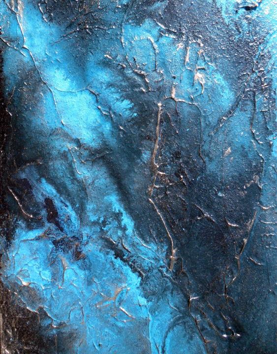 Large Wall Art Abstract Painting Contemporary Water Aqua Pura Holly Anderson