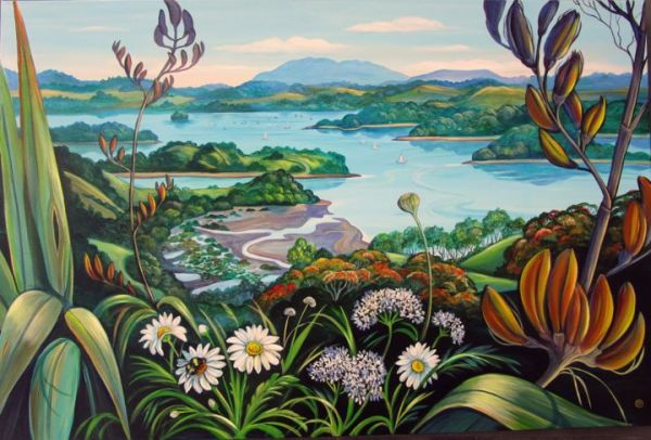 Mahurangi River Painting Irina Velman Artmajeur