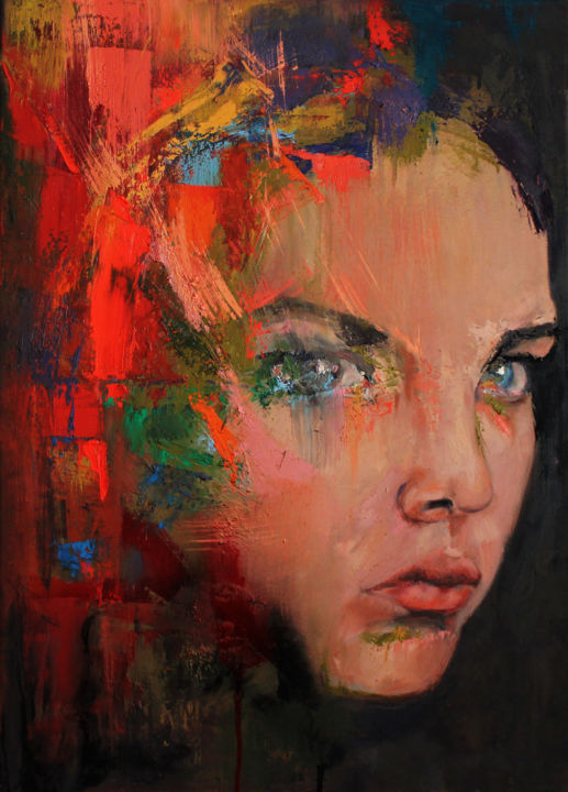 Expressionism Abstract Art Faces