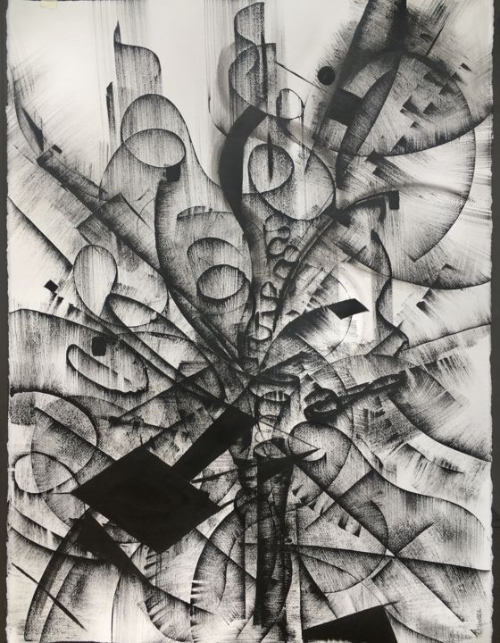 Black And White Abstract Drawing 4 Khrystyna Kozyuk Artmajeur