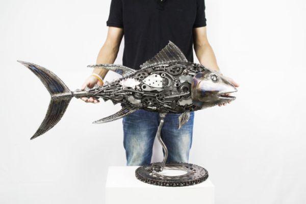 Scrap Metal Art Fish Sculptures