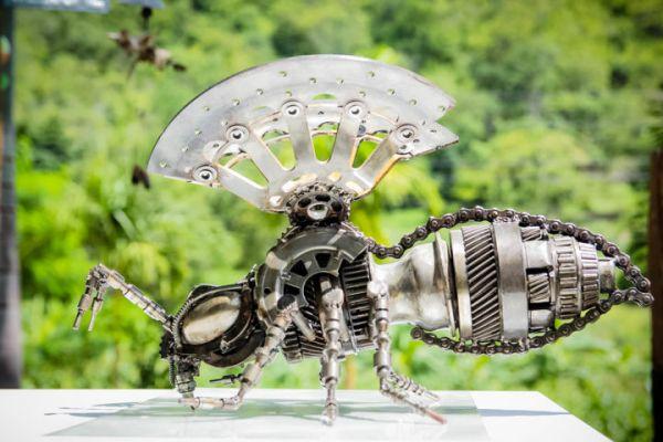 Bee Metal Art Sculpture Mari9art